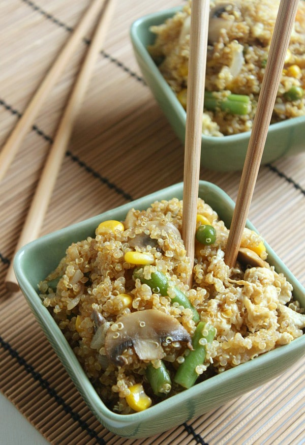 Quinoa Fried 'Rice'- WendyPolisi.com