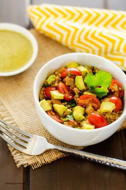 Avocado Quinoa Salad with Chipotle Lime Dressing - WendyPolisi.com