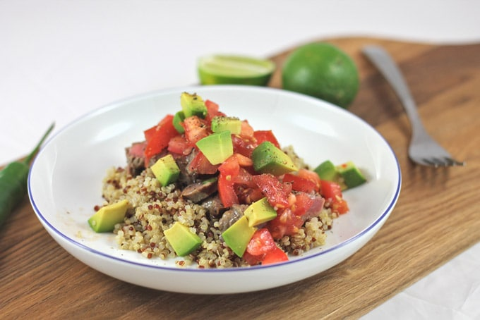 Tangy Steak Salad with Quinoa