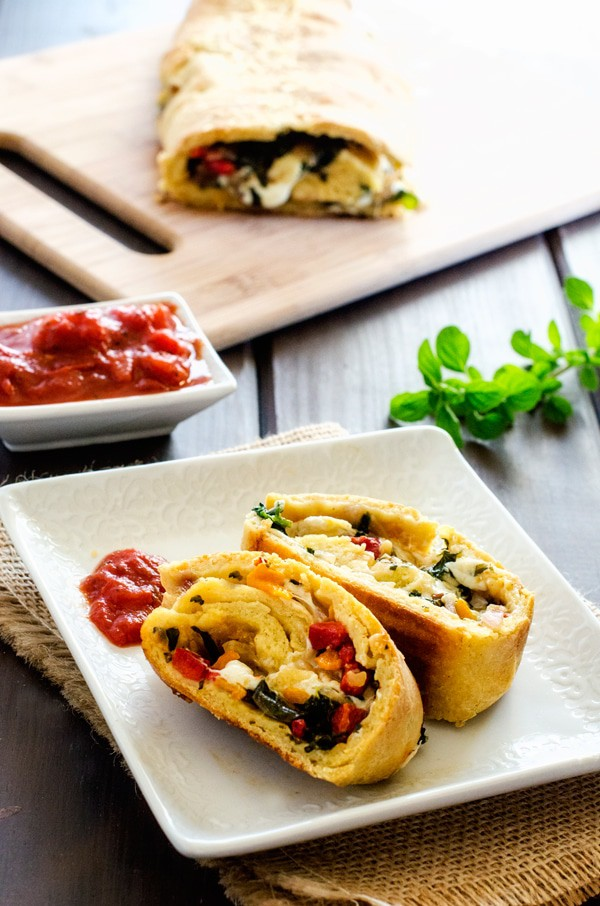 Veggie Quinoa Pizza Roll