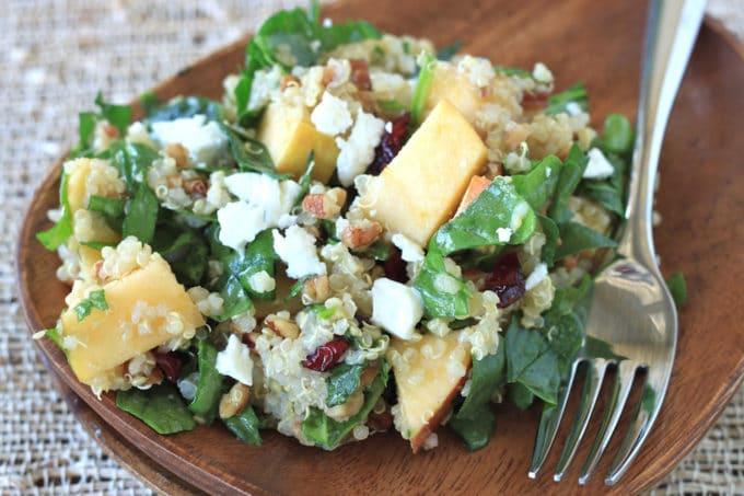Apple, Pecan, and Goat Cheese Quinoa Salad - WendyPolisi.com