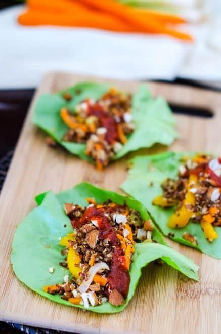 Asian Quinoa Lettuce Wraps - WendyPolisi.com