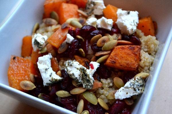 Butternut Squash, Goat Cheese & Cranberry Quinoa Salad - WendyPolisi.com