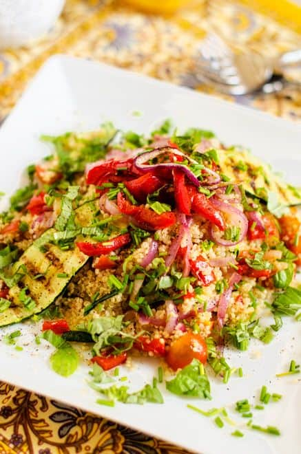 Grilled vegetable quinoa salad wendy polisi grilled vegetable quinoa salad forumfinder Images