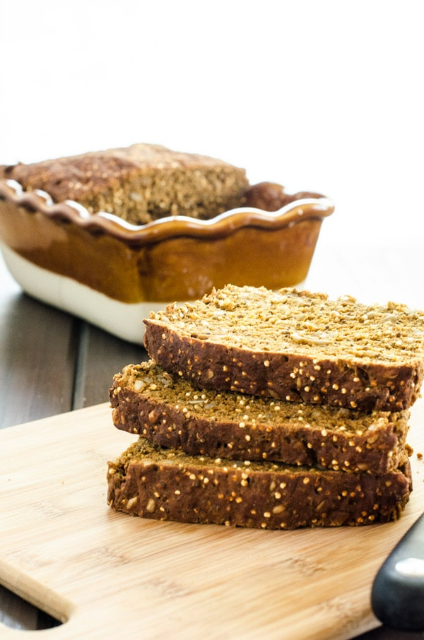 Hearty Quinoa Bread - If you are gluten free, this hearty quinoa bread will rock your world! I've had so many people tell me it was a game changer for them. - WendyPolisi.com