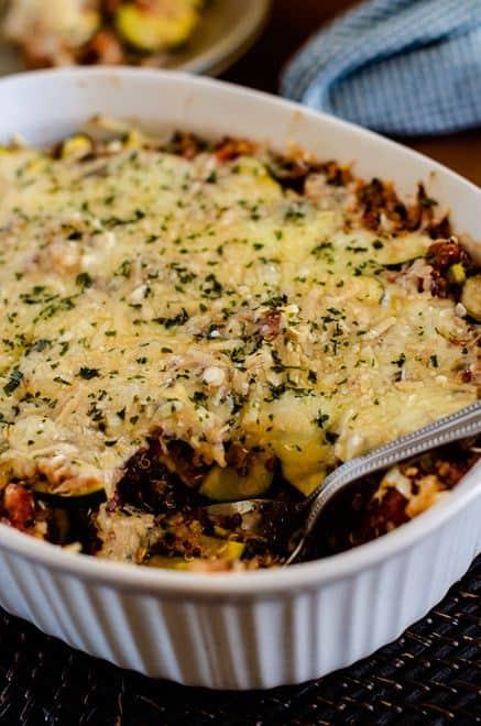Italian Zucchini Quinoa Casserole - WendyPolisi.com