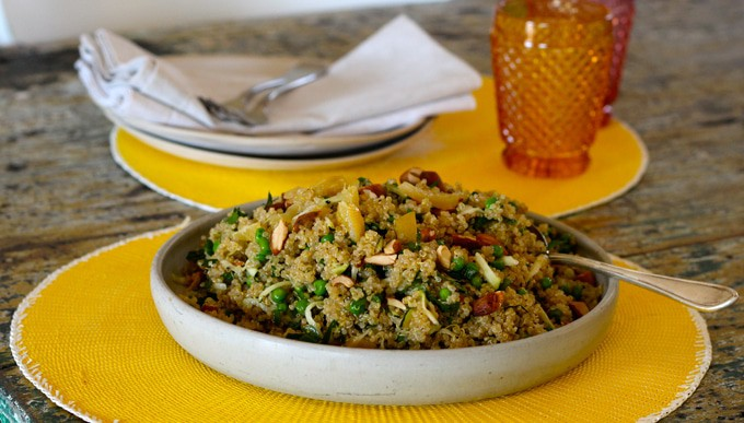 Quinoa Salad with Zucchini, Peas and Preserved Lemon
