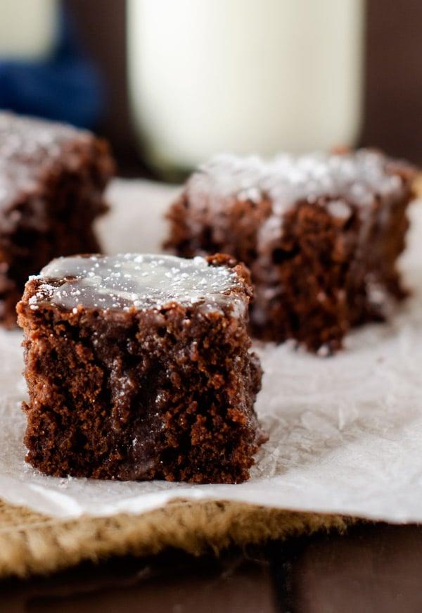 Mint Quinoa Brownies - Gluten Free, Vegan Option - WendyPolisi.com