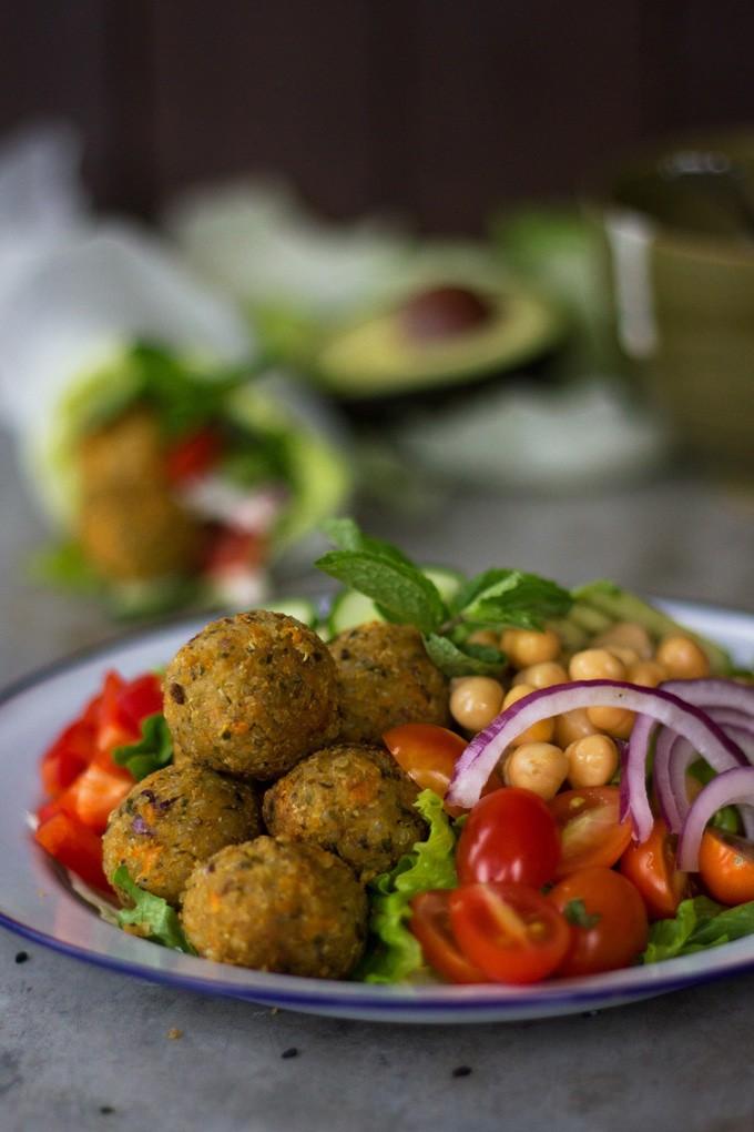 Quinoa Falafel with Yoghurt Tahini Sauce - Wendy Polisi