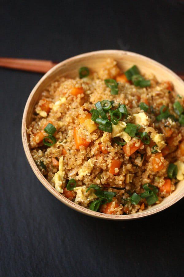 Quinoa Fried Veggie Rice - WendyPolisi.com