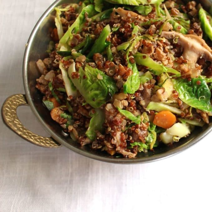 Quinoa with Pecans and Brussels Sprouts