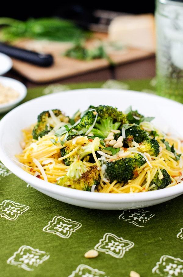 Roasted Broccoli with Quinoa Angel Hair - WendyPolisi.com