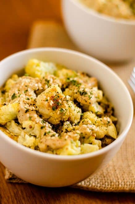 Roasted Cauliflower & Quinoa with Lemon Tahini Sauce - WendyPolisi.com