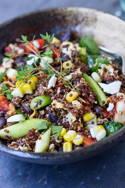 Southwestern Quinoa Scramble - WendyPolisi.com