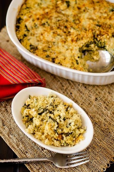 Spinach Artichoke Quinoa Casserole - Wendy Polisi