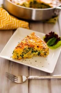 Quinoa, Spinach & Sausage Breakfast Casserole - Wendy Polisi