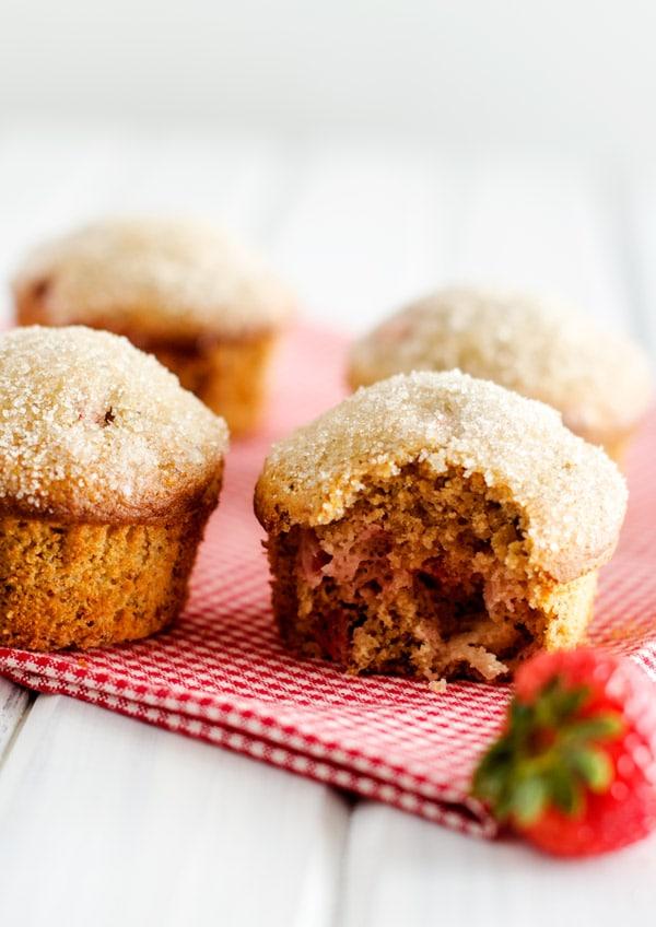 Strawberry Quinoa Muffins