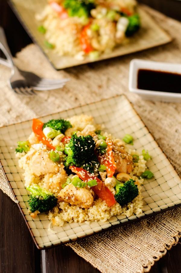 Sweet Heat Cashew Chicken & Quinoa - WendyPolisi.com
