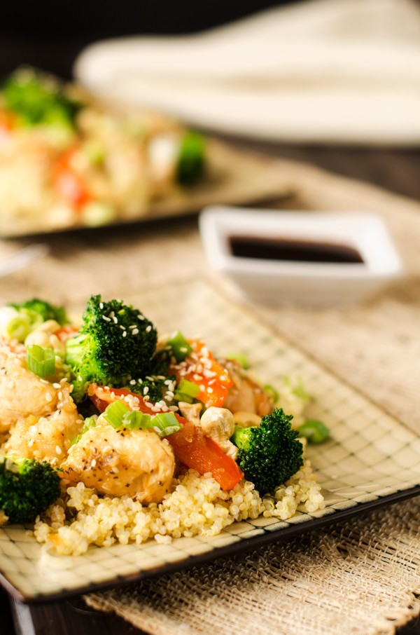 Sweet Heat Cashew Chicken & Quinoa