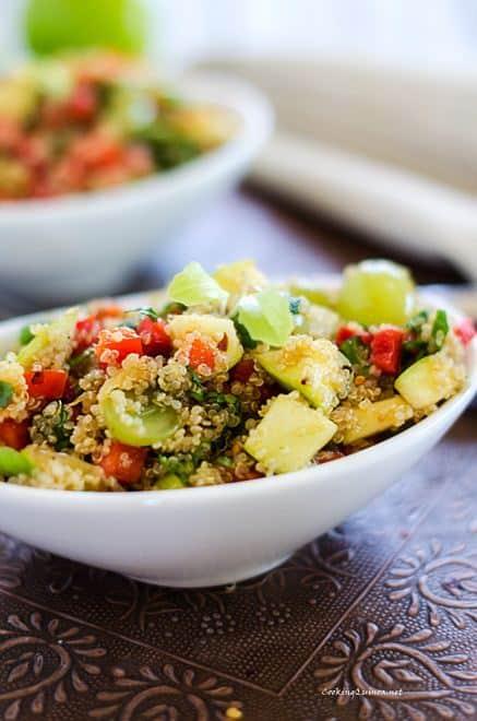 Sweet & Spicy Quinoa Salad - WendyPolisi.com