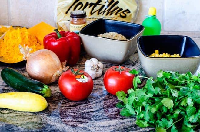 veggie-quinoa-quesadillas-ingredients