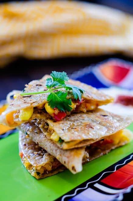 Veggie Quinoa Quesadillas - WendyPolisi.com