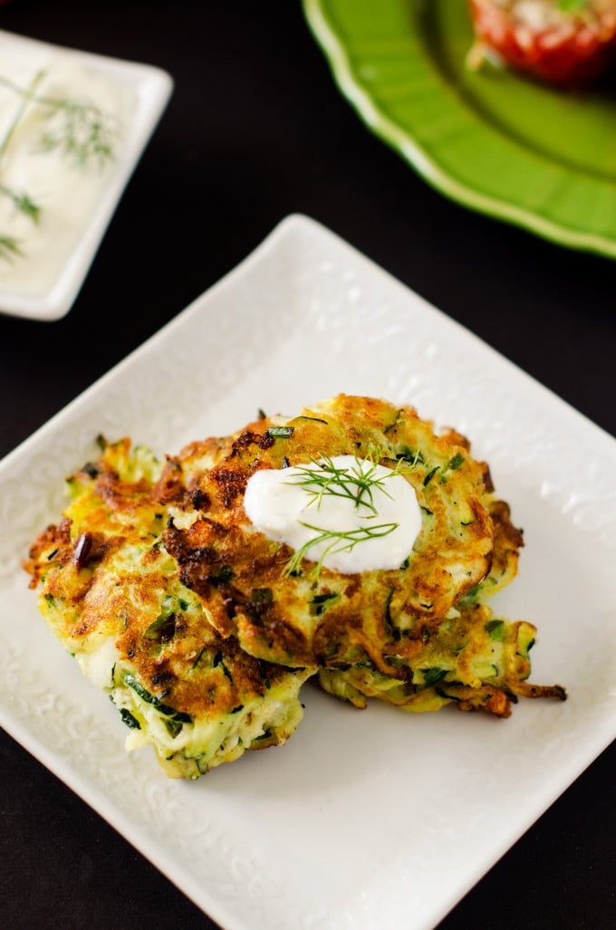 Zucchini Fritters with Feta - WendyPolisi.com