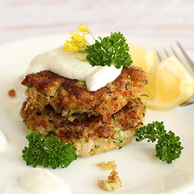 Zucchini Quinoa Fritters - WendyPolisi.com