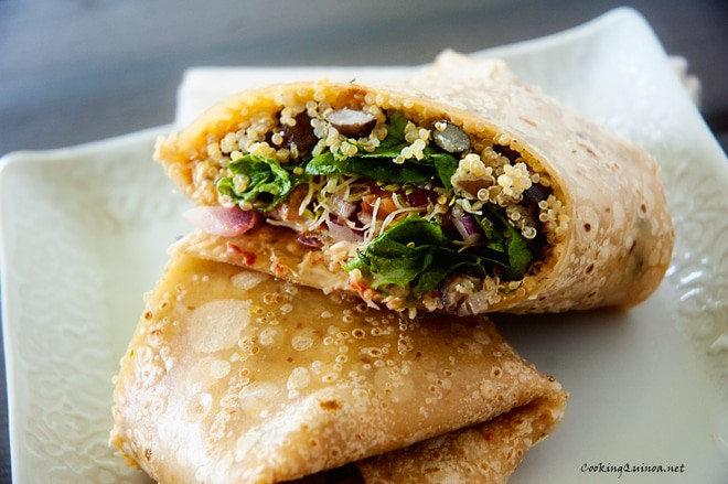 Chipotle Black Bean & Quinoa Wrap - Wendy Polisi