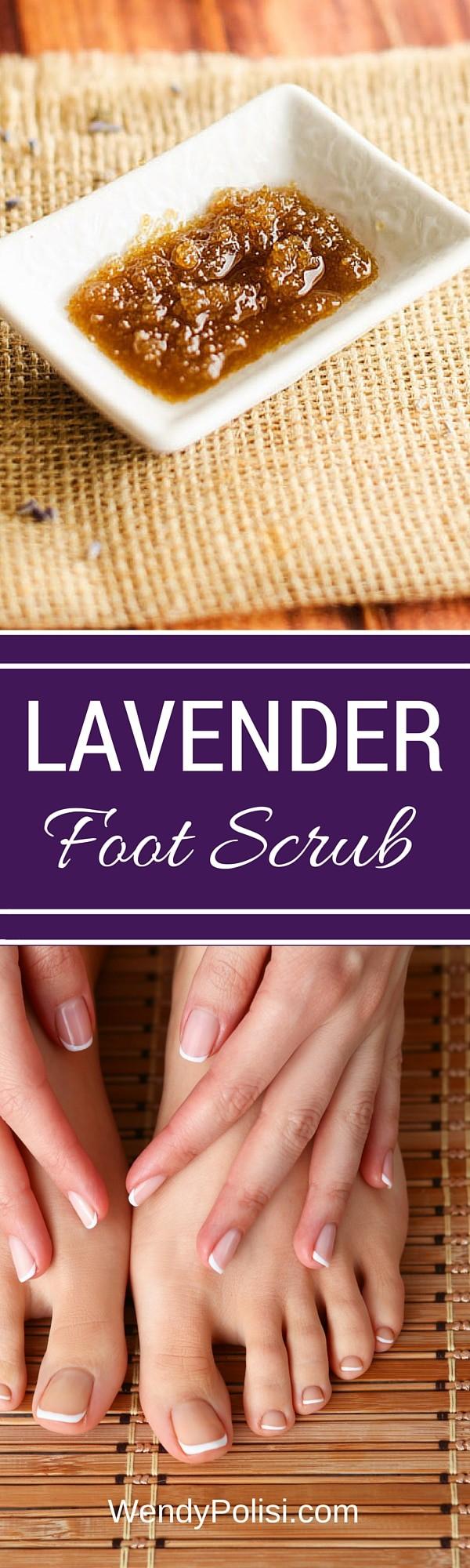DIY Lavender Foot Scrub