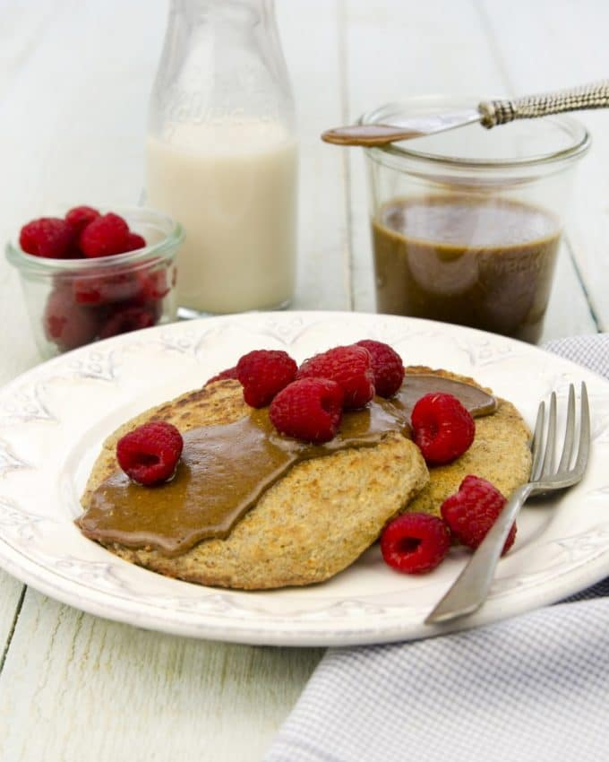 Single-Serve Pancakes with Quinoa