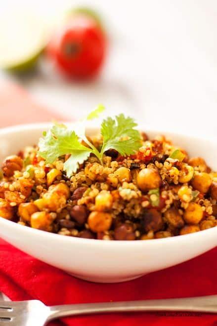 Mexican Roasted Chickpea & Quinoa Salad - WendyPolisi.com