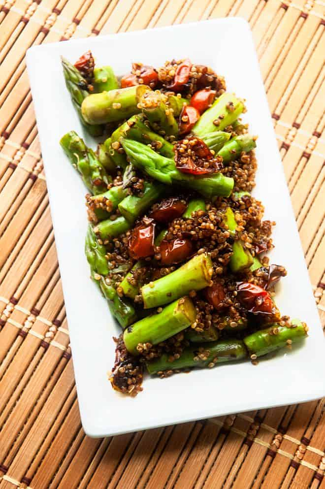Asparagus & Quinoa with Balsamic Tomatoes