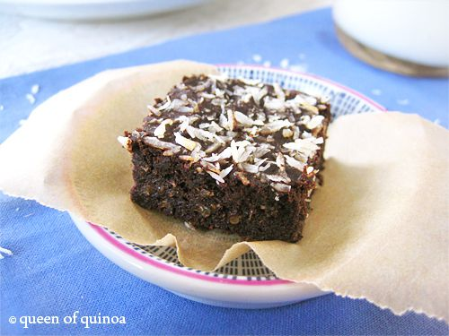 Fudgy Quinoa Brownies Recipe — Dishmaps
