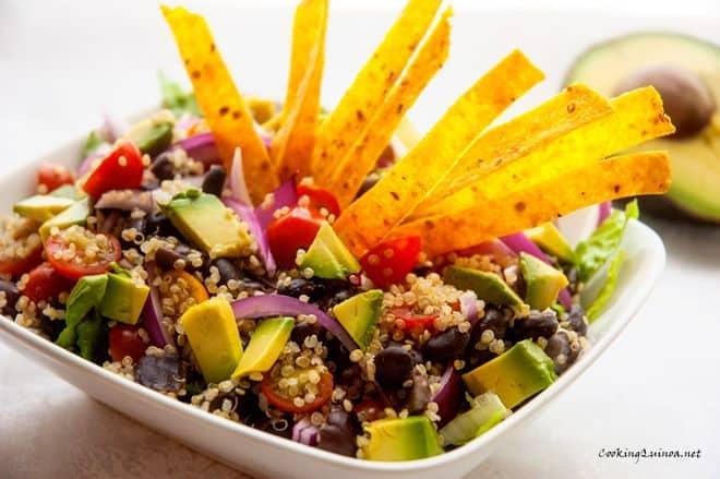 Tortilla Quinoa Salad - WendyPolisi.com