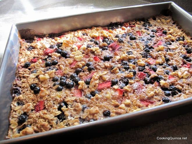 Baked Quinoa and Oatmeal - Wendy Polisi