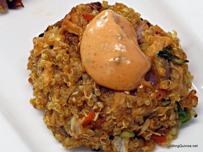Baked Veggie Quinoa Patties - Wendy Polisi