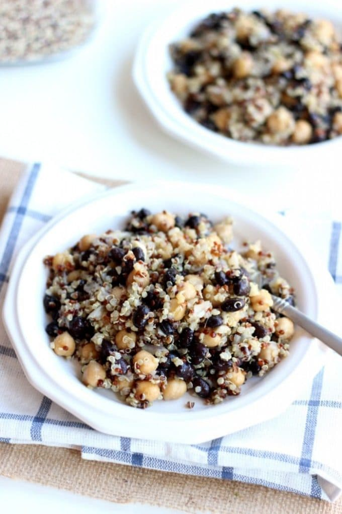 Quinoa, Black Bean, and Chickpea Salad