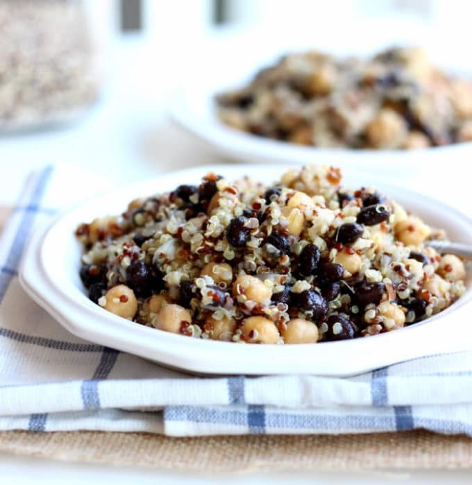Quinoa, Black Bean, and Chickpea Salad