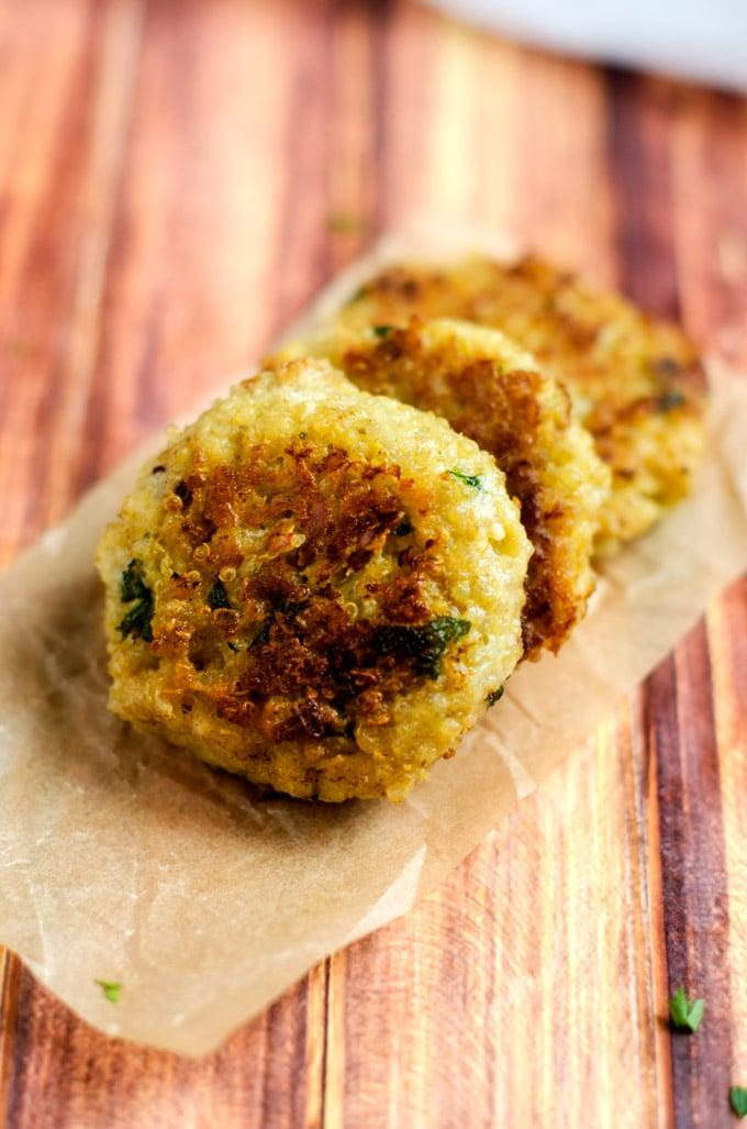 Blue Cheese Quinoa Patties - WendyPolisi.com