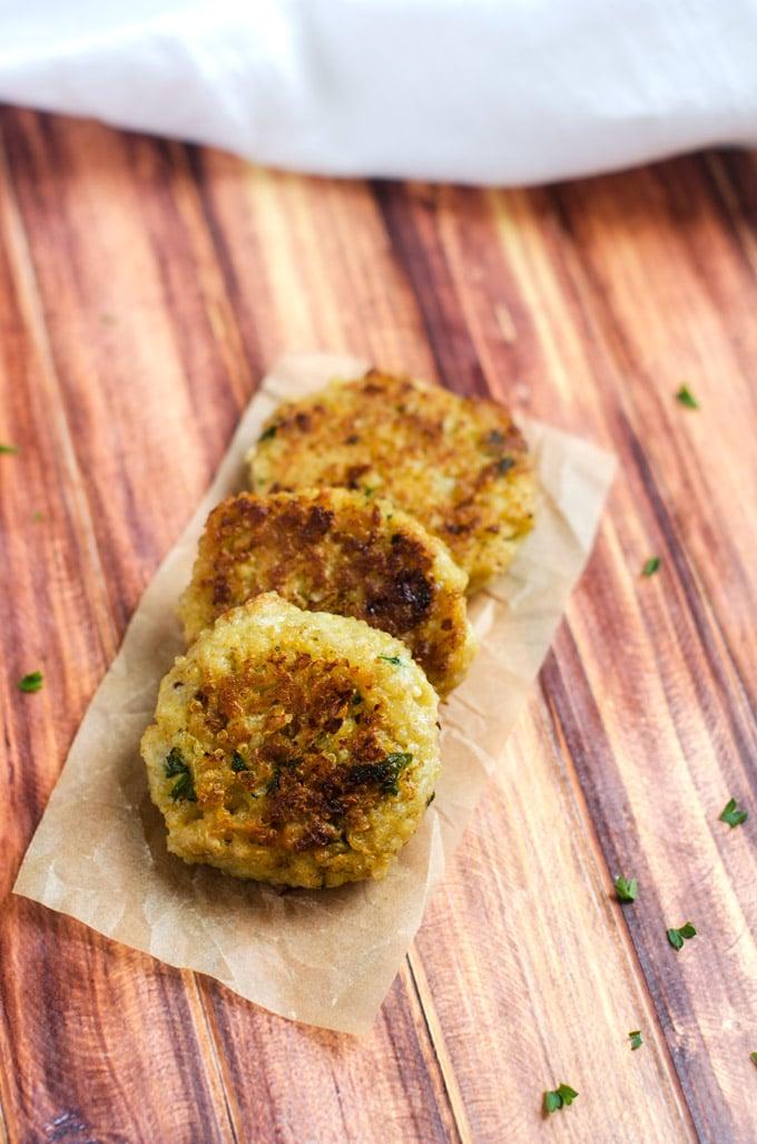 Blue Cheese Quinoa Patties