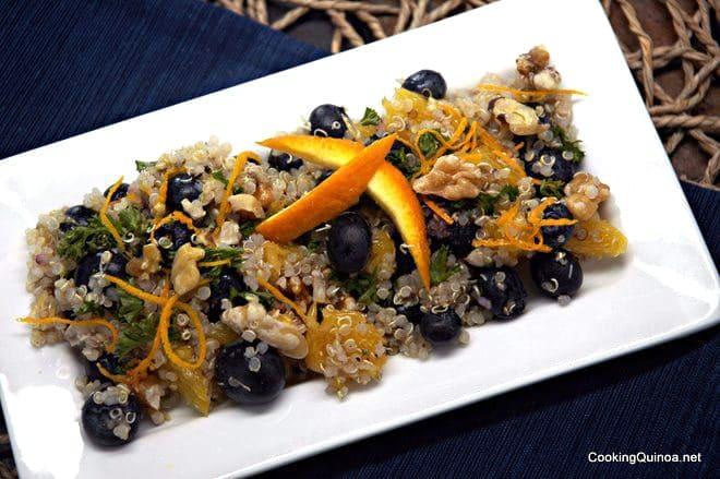 Blueberry & Walnut Quinoa Salad