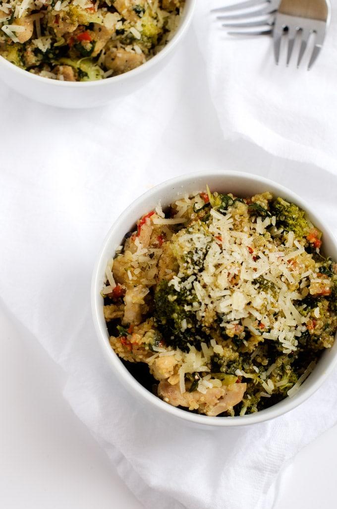 Broccoli, Spinach, Parmesan Quinoa Skillet - WendyPolisi.com