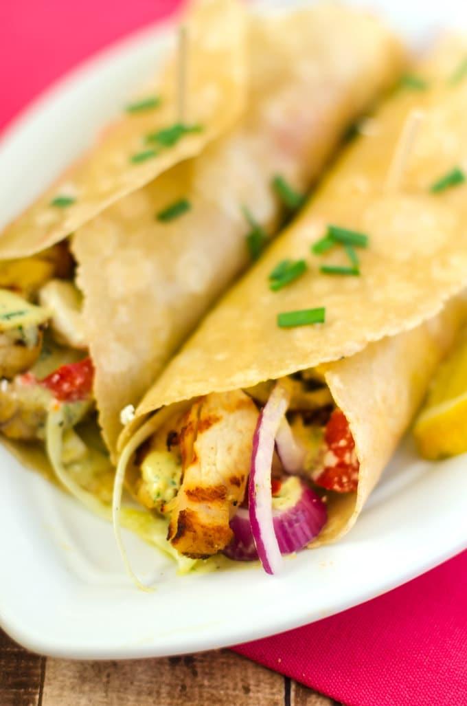 chicken-feta-wraps