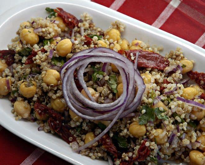 Mediterranean Chickpea Salad - Wendy Polisi