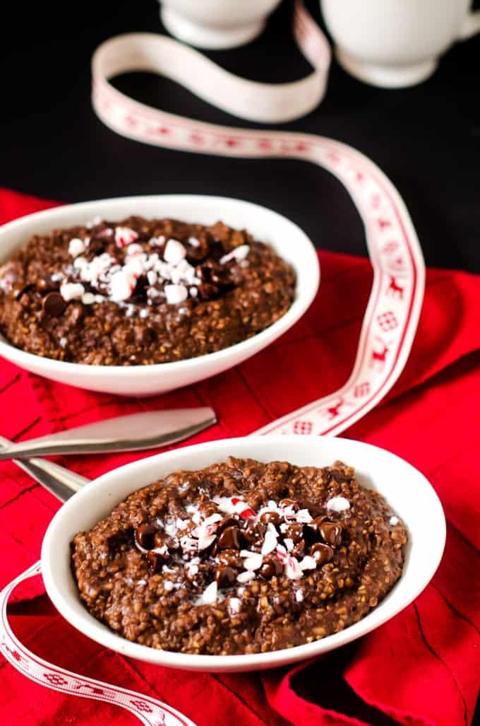 Chocolate Mint Quinoa Breakfast