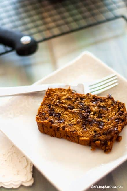 Chocolate Chip Banana Quinoa Bread