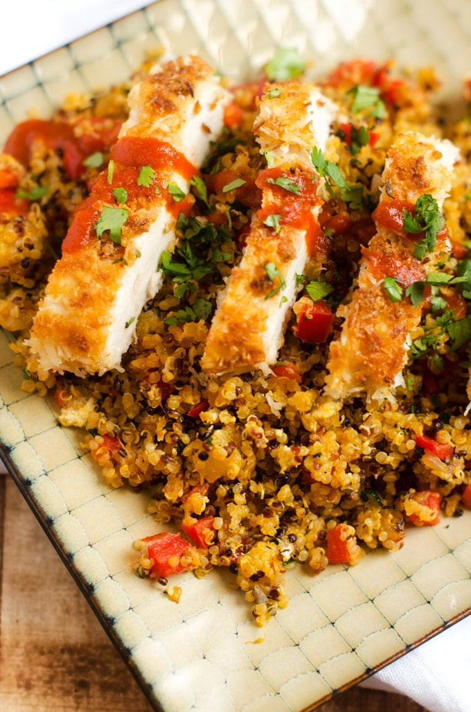 Coconut Chicken with Pineapple Fried Quinoa