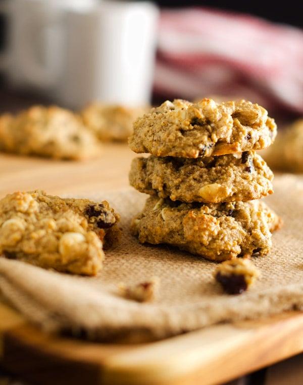 White Chocolate Cranberry Quinoa Cookies - Gluten Free, Vegan Option - WendyPolisi.com