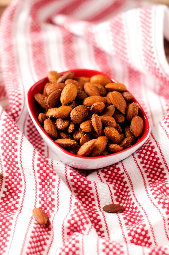 Spicy Slow Cooker Almonds